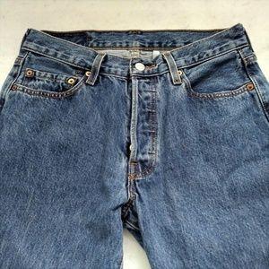 LEVI'S blue denim 501 button fly jeans size 30x34